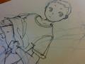 少年描いた。