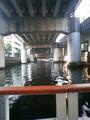 川の上、阪神高速で趣ない。