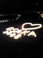 大阪城の灯