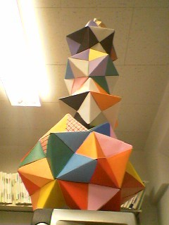 ユニット折り紙タワーの図