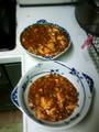 麻婆豆腐大量にでけた。激辛です。