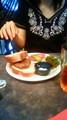 妹の誕生日。みなとみらいのカフェでランチ。
