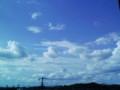 夏の終わりって感じの空。