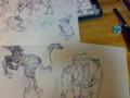 初めて動物描いたかも
