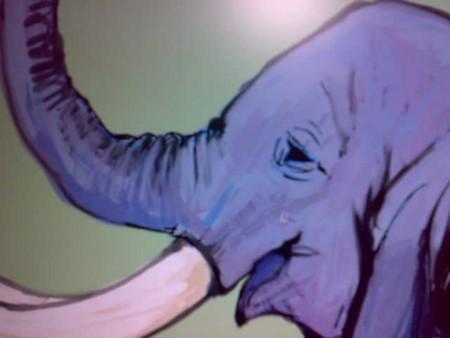 今日は象を描いています。
