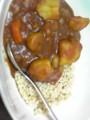 先週のトマトソースをカレーにした〜 おいし♪