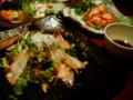 [かじ][外食]真鯛のサラダ仕立て。海老マヨ炒め!