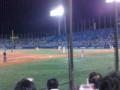 神宮で野球見てる!
