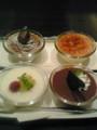 ミント神戸でごはん食べました。写真はデザート四点盛り。
