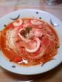 赤羽で降りてパスタ食べてる。海野幸辛口スープパスタ☆