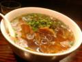 刀削麺。今日は細い麺が多かったのでハズレ。太めが好き。
