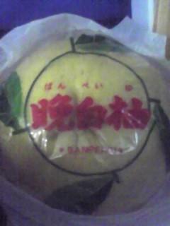 同僚に「晩白柚」いただきました。どう剥くのだろう