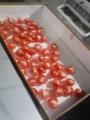 ドライトマト製造中