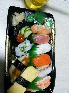 半額の寿司(598円=>299円)