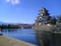 今松本城の上