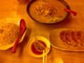 味噌ラーメンチャーハンセット餃子1 餃子の皮が硬い。