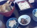 昼飯。葉山の夢庵で天丼