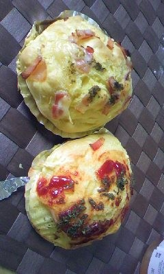 できた〜作ったのは惣菜パンだが菓子パンの方がおいしい予感