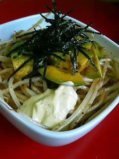 AM/PM丼(アボカドもやしペッパーマヨ丼)
