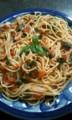 トマトとバジリコのスパゲティ