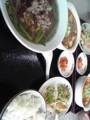 今日は二限までだから友達連れて中華食べた。 メニューは前と同じ。