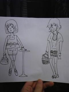 双子の妹が描いたティエアレ。これ新刊に採用!