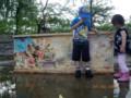 うちの子が描いたのは、サメではなくてイカだったらしい@西大畑公園