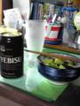 ビールときゅうりの胡麻油和え
