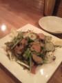 鶏レバーのマリネと水菜のサラダ