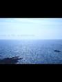 日本最西北端の川尻岬。地球ってほんとに丸いんだな、って水平線見る