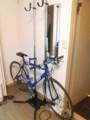自転車ラックが届いたぁ。後はタイヤとサドルとグリップを白くしよ。