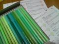 今月の500色色鉛筆。
