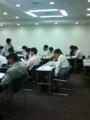 組織活性化プログラムStep3 電話対応実習中。