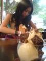 神戸・くもり:コロちゃんとTRITON CAFEでパフェ食べています!