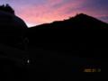 昨日の磐梯山の朝焼け