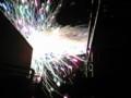 実家のベランダから天神祭の花火見た。これから夜行バスで帰 るぜー