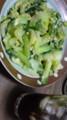 チンゲン菜+ブロッコリー+卵+コーラ+レモン汁。