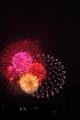 自宅駐車場についたら、花火が上がってた!