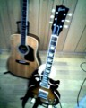 I uploaded my first photo! My Guitar;Gibson Les Paul