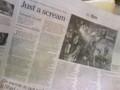 The Japan Times に『山形スクリーム』ちなみに一面はフジロックだった。oa