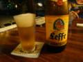 ドイツ仕込みの本格ソーセージの美味しい店で。ベルギービール数ある