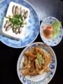 ミミガーに豆腐ようにスクカラス(魚の塩辛)。つまみばっかり :p