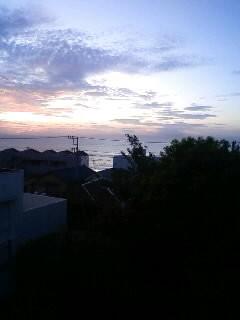 三浦海岸の朝です。