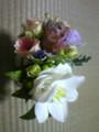 友達(新婦)から貰ったブーケとお花。