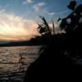 最後に。阿寒湖畔の日没。きれいだ〜☆