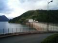 玉川ダム。もうすぐ日没だけどどうしよう。田沢湖までいけるかな