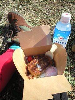お昼飯●ロコモコとDAKARA●ロッカトレンチのボーカルカッコいい●えく