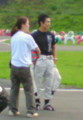 took a pic of F1 driver Takuma Sato