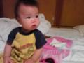 うちの甥っ子。10か月(うちのお兄ちゃんの小さい頃に激似)。今日