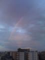 5時にゆうぽうとに戻ると、虹が見えました。